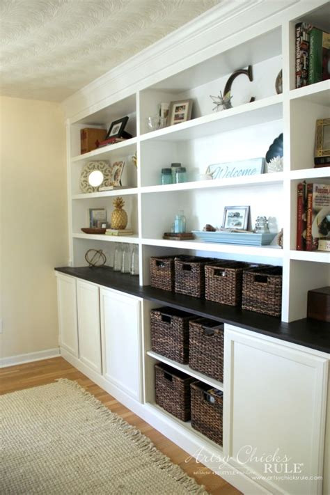 Built In Bookcases Diy by Diy Built In Bookcase Reveal Artsy Rule 174