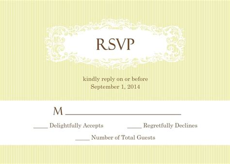 Wedding Rsvp Wording -- Formal And Casual Wording You Will