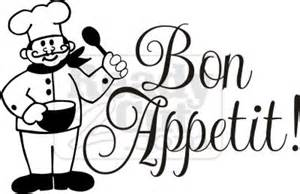 bon appetit with chef vector graphic file