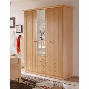 Kleiderschrank 2 Türig Mit Spiegel : 3 t rer kleiderschrank buche dekor mit spiegel und schubladen ~ Bigdaddyawards.com Haus und Dekorationen
