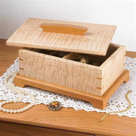 secret compartment jewelry box woodworking plan  wood magazine