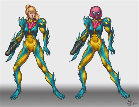 Metroid Fusion Suit Redesign Wip By Imdrunkontea On