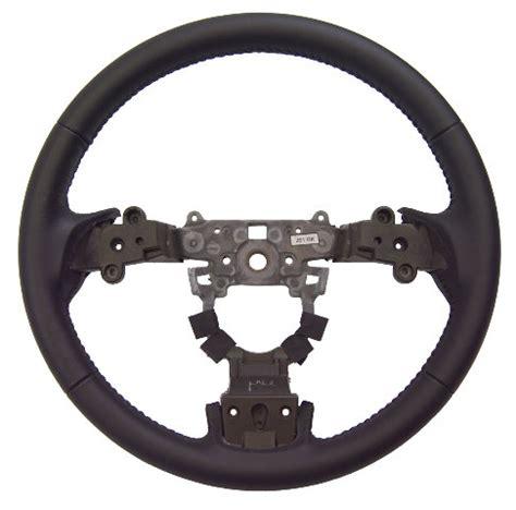 mazda  black leather  spoke steering wheel