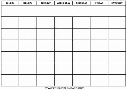 Calendar Blank Template Pdf Word Printable Templates
