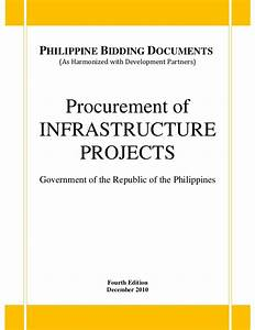 procurement of infrastructure projects With government bidding documents