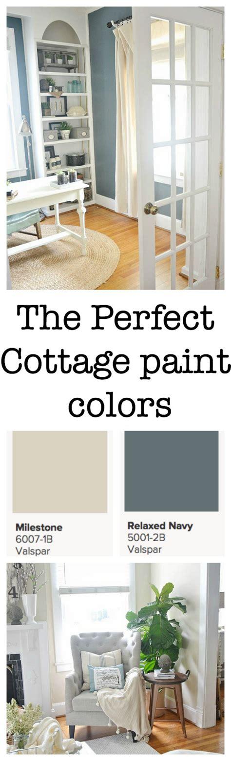 cottage paint colors on valspar blue grey