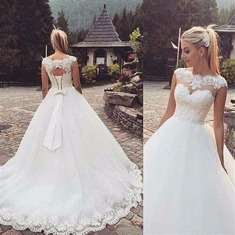 New Whiteivory Wedding Dress Bridal Gown Stock Size 4 6 8