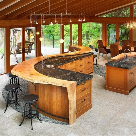 kitchen island with bar kitchen design trends set to sizzle in 2015