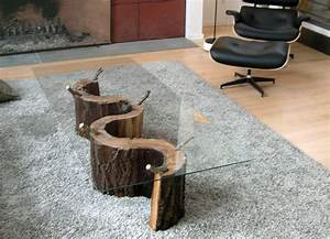 tree trunk coffee table derektime design great idea With tree stump coffee table with glass top