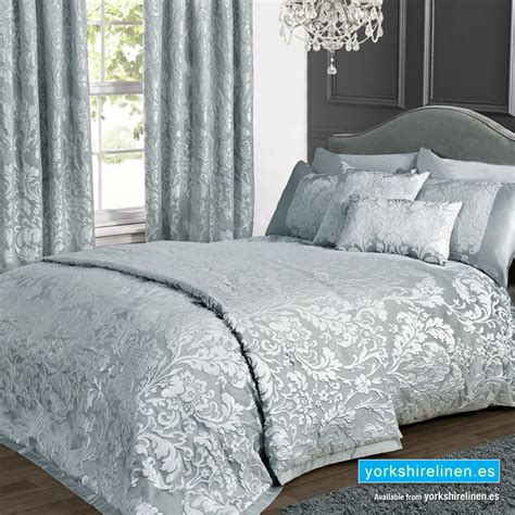 Charleston Jacquard Duvet Cover Set, Duck Egg Yorkshire