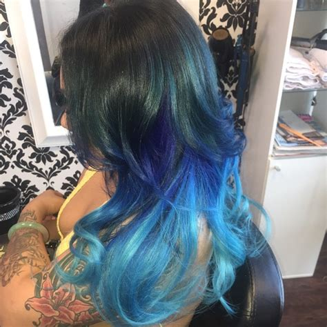 hair color dark to light dark blue and turquoise hair www pixshark com images