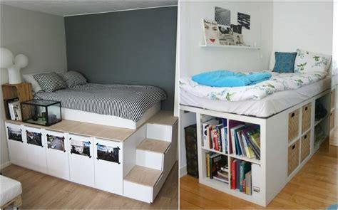 Bett Bauen Mit Stauraum by Hochbett Selber Bauen Mit Ikea M 246 Beln Betten Mit Stauraum
