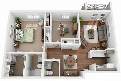 Den Bedroom Apartment Floor Plans Plan Studio