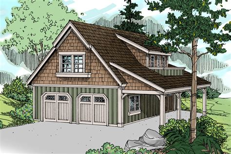 Garage Design Plans by Craftsman House Plans Garage W Living 20 020