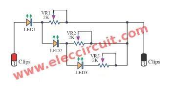 Led Voltage Indicator Circuits Eleccircuit