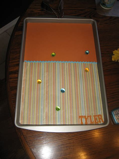cookie sheet magnetic boards sheets magnets craft dollar fairytales fireflies chasing circle paper
