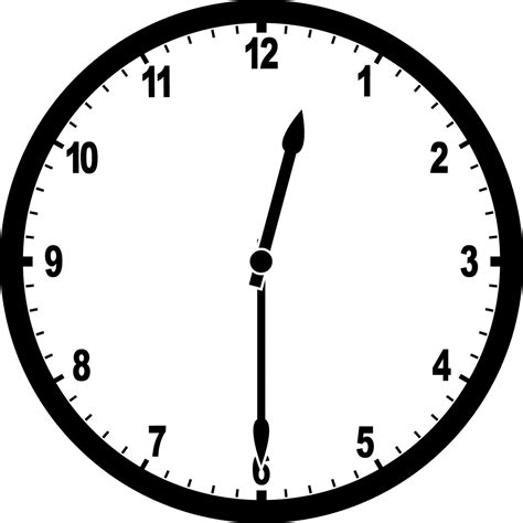 Clipart Time by Clock 12 30 Clipart Etc