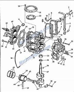 Evinrude Powerhead Parts For 1957 5 5hp 5514 Outboard Motor