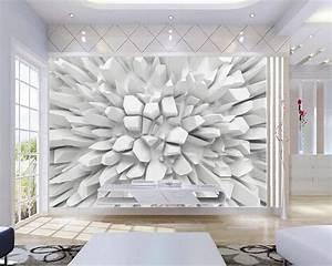 Papier Peint Photo : beibehang blanc 3d pierre rayonnante photo papier peint ~ Melissatoandfro.com Idées de Décoration