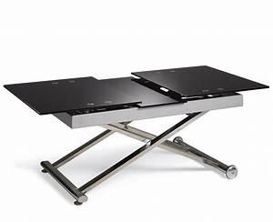 Table Salon Relevable Table Basse Bois Metal Pas Cher