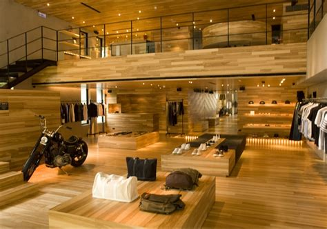 stores for floors retail design showroom in wood