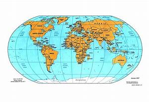 World Continents And Oceans Map - grahamdennis.me