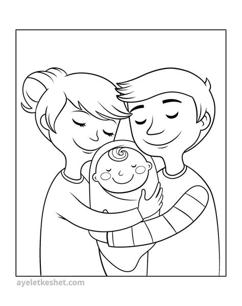 coloring pages  family    print