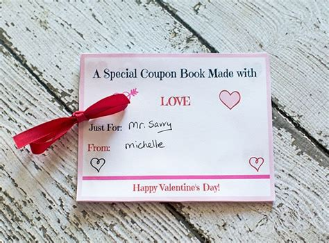 printable valentines day coupon book