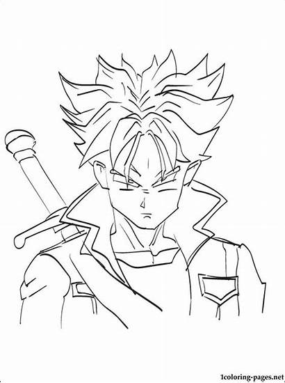 Trunks Dragon Coloring Pages Future Ball Bulma