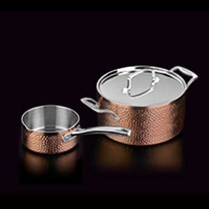 cuisinart hctp  hammered collection cookware set cookware pro