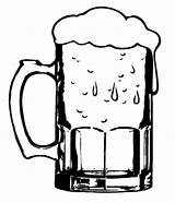 Beer Coloring Glass Clipart Pages Cold Mug Clip Mugs Glasses Stein Drawing Case Getdrawings Place Tocolor Button Using sketch template