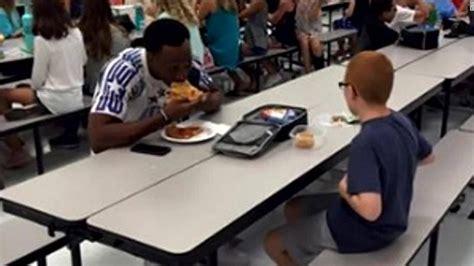 fsu football player joins boy  autism eating