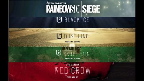 siege v駘o rainbow six siege year one all seasons theme
