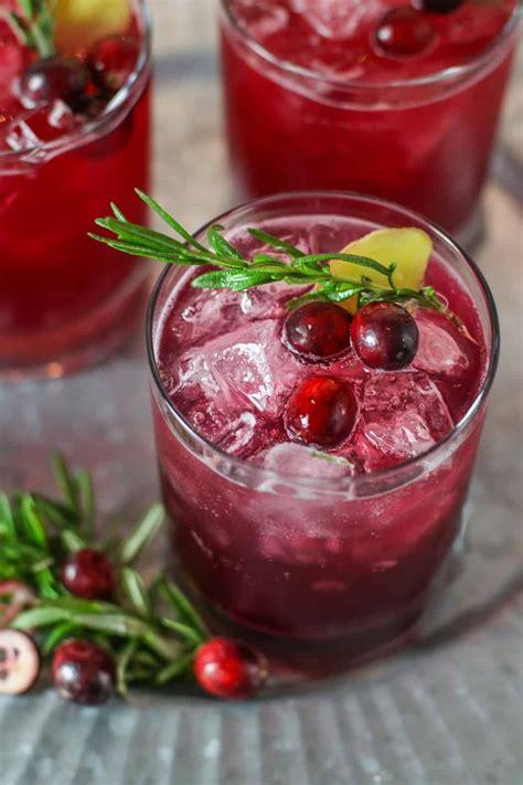 Sparkling Cranberry Kombucha Mocktail The Real Food