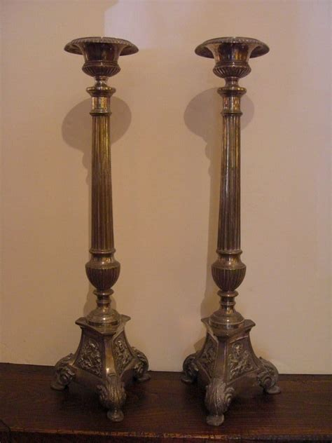candlestick ls for sale pair of elegant vintage silver plate candlesticks for sale