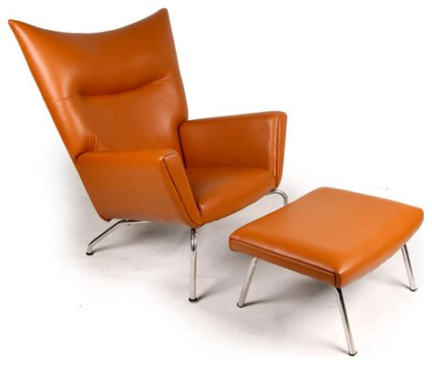 modern accent chair and ottoman kardiel midcentury modern wing chair and ottoman aniline
