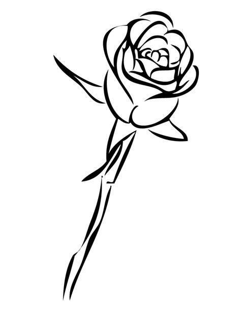Single Rose Outline - ClipArt Best