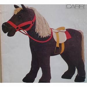 Stuffed Toy Horse Pattern Saddle Pony Toy Vogue 623 9603