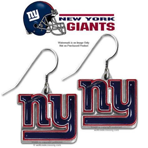 gifts for new york giants fans new york giants earrings nfl licensed team logo jewelry