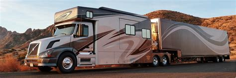 volvo tractor trailer for sale showhauler motorhome conversions