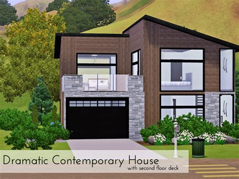 Sims Freeplay Second Floor Patio by Eke Salom 233 S Dramatic Contemporary With Second Floor Deck