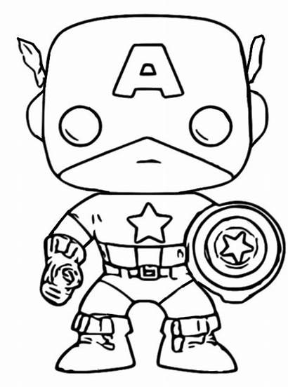Funko Pop America Marvel Captain Coloring Pages