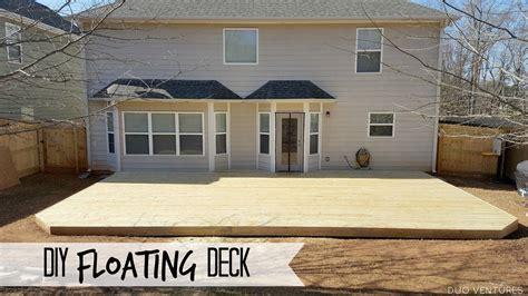 diy floating ground level deck  images deck