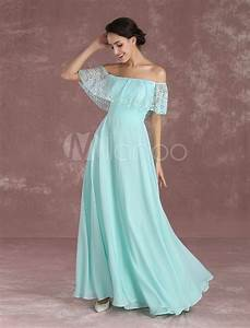 long prom dresses 2017 off the shoulder prom dress mint With robes de ceremonie 2017