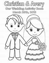 Coloring Printable Personalized Activity Colouring Template Bride Pdf sketch template
