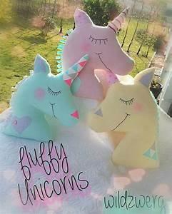 Einhorn Kissen Nähen : fluffy unicorns einh rner dekoration kissen wildzwerg ~ A.2002-acura-tl-radio.info Haus und Dekorationen