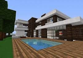 dark oak  quartz block modern house   swimming