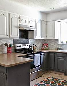 remodelaholic grey and white kitchen makeover With kitchen colors with white cabinets with add stickers to photos facebook