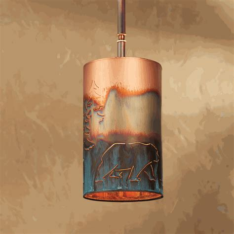 rustic chandeliers copper bear pendant light