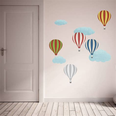 patterned hot air balloon wall stickers  spin collective